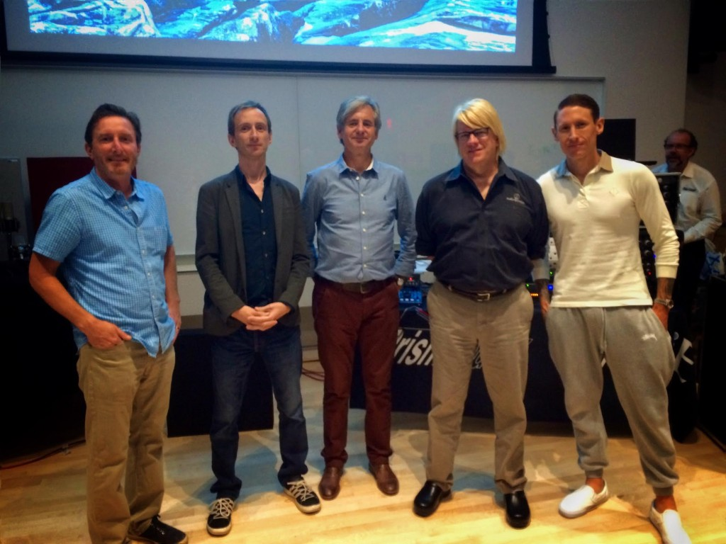 Prism Sound's Graham Boswell, Audio-Technica USA's Steve Savanyu, GIK Acoustics's Glenn Kuras, Ruairi O'Flaherty for PMC Speakers and The J.U.S.T.I.C.E League's engineer Edward J. Nixon