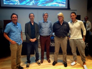 Prism Sound's Graham Boswell, Audio-Technica USA's Steve Savanyu, GIK Acoustics's Glenn Kuras, Ruairi O'Flaherty for PMC Speakers and The J.U.S.T.I.C.E League's engineer Edward J. Nixon
